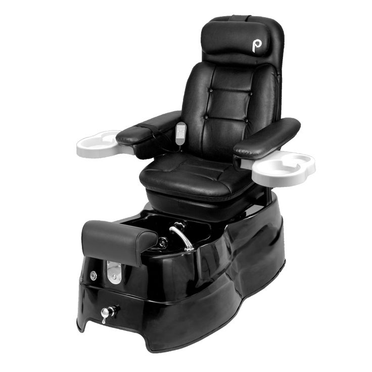 #pedicure Chair- AD-Luxury swivel chair with adjustable reclining back slides forward/back for ultimate comfort. #Massage system with 6 vibrations. Durable fiberglass base with Italian faucet and adjustable footrest.
