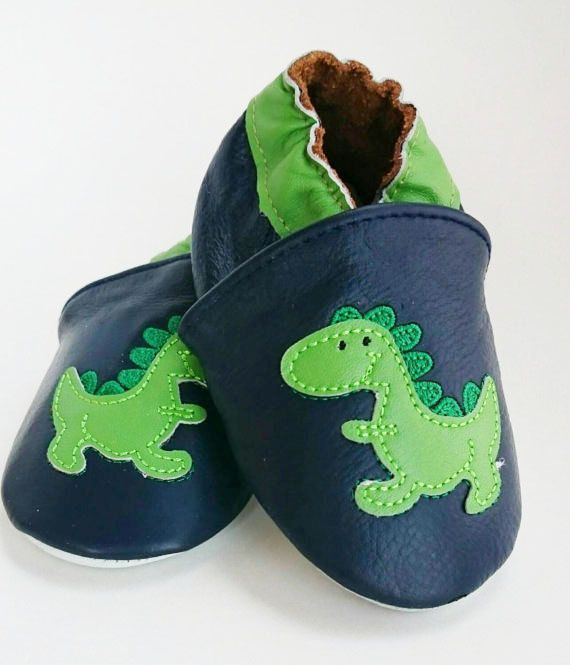 Soft sole dinosaur shoes $11.99  https://www.etsy.com/ca/listing/261761181/baby-leather-shoes-dinosaur-soft-soled