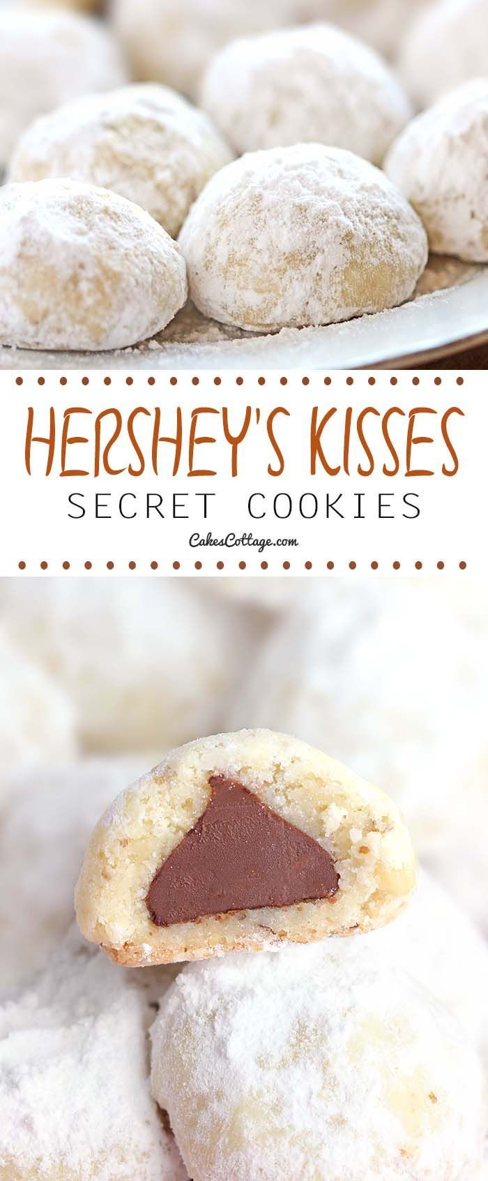 ...a shortbread cookie with a wonderful Hershey's chocolate kiss surprise in the center! Would be fun for Christmas or Valentines Day!