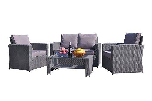 Yakoe-4-Piece-Rattan-Garden-Furniture-Sofa-Set-Table-and-Chairs