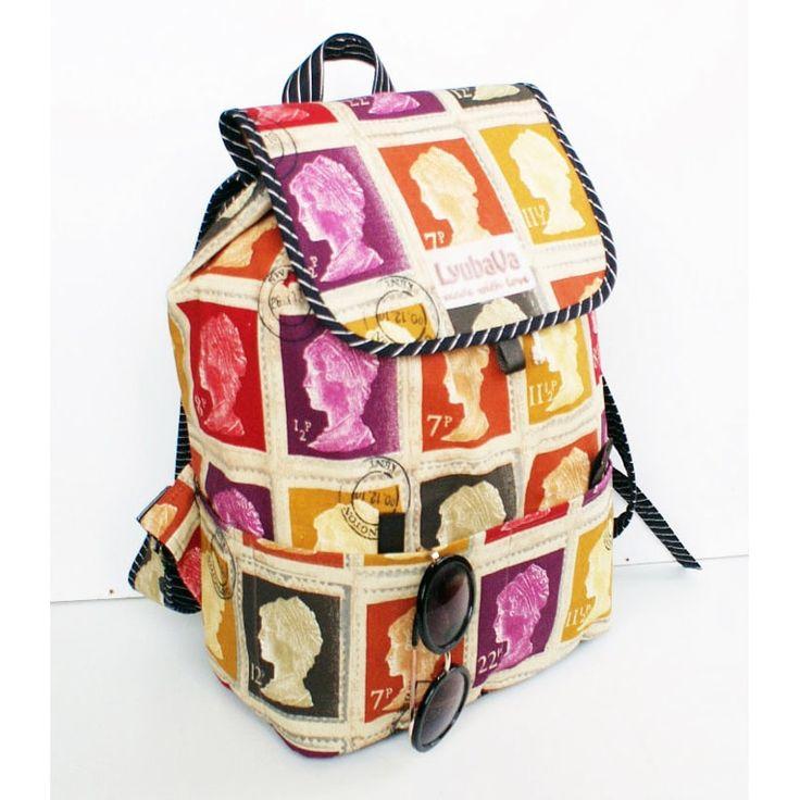 """Модный Яркий женский рюкзак Lyubava Марки ручной работы для подарка стильной девушке, предпочитающий тренд кэжуал, спортсменке, студентке, ученице. Рюкзак текстильный, очень приятный, легкий и мягкий, благодаря натуральным тканям износостойкий, все """"ответственные места"""" простеганы и уплотн"""