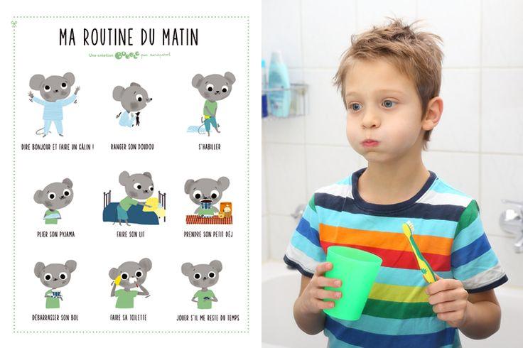 L'affiche des routines du matin | Bubble – comprendre et surprendre nos enfants