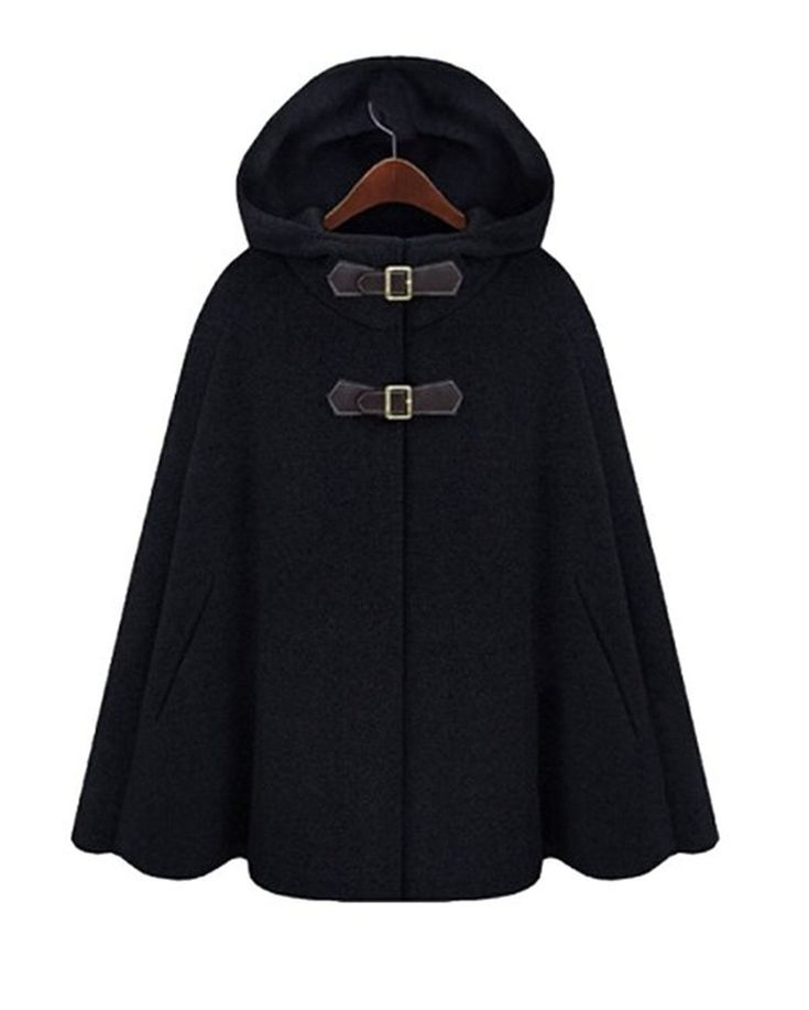 Amazon.com: Taiycyxgan Women's Batwing Cape Wool Poncho Jacket Warm Cloak Coat: Clothing