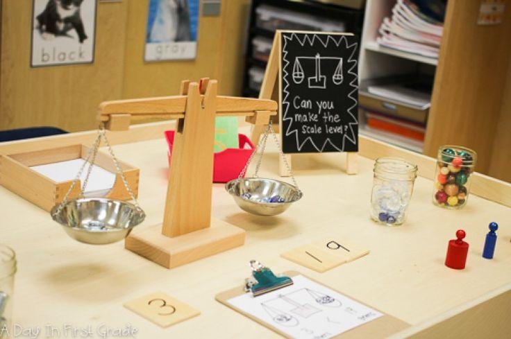 Reggio inspired math provocation in a traditional school