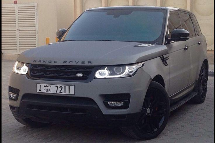 Mat grey Range Rover sport
