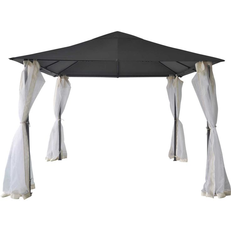 Enhance your outdoor living environment with the House and Home Steel Gazebo. This large gazebo is perfect for every backyard, it offers ground and canopy shade and coverage. Perfect for summertime lunches!