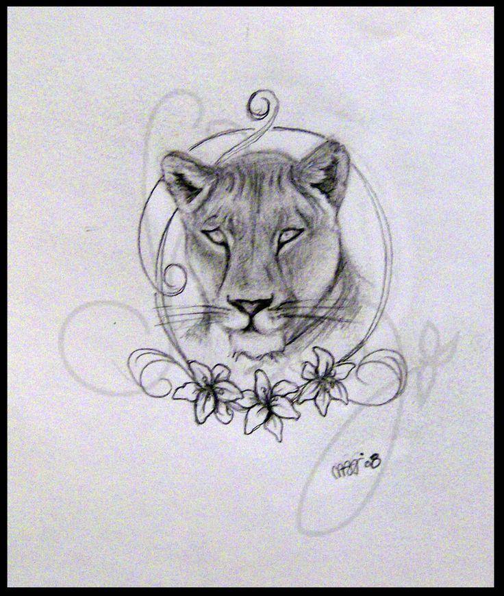26 best lioness tattoo...