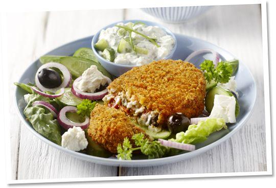 Griekse rondo met frisse salade #Tivall #vegetarisch #recept