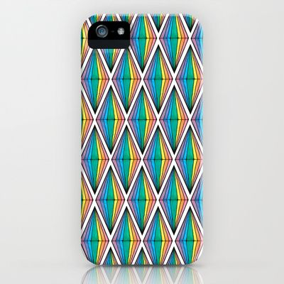 Rainbow Plumbobs iPhone & iPod Case by Papercut Prints - $35.00