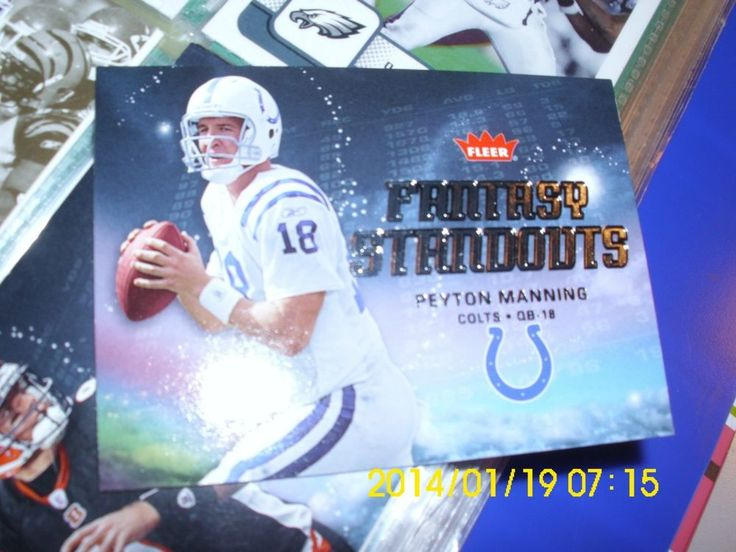 PEYTON MANNING   FANTASY STANDOUTS   FLEER    COLTS   #18 #IndianapolisColts