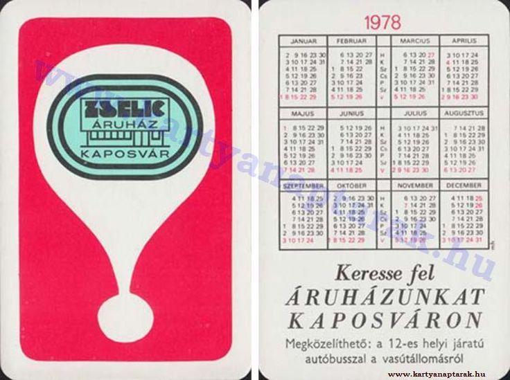 1978 - 1978_0914 - Régi magyar kártyanaptárak