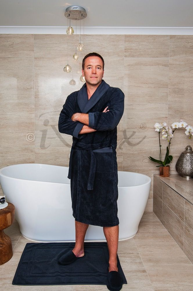 Charcoal Bathrobe #VelourBathrobe #iRelaxAU #AweSplendid #LuxuryBathrobe