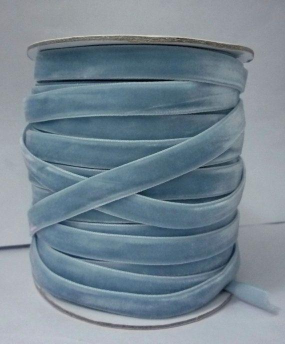 8 yd / 7.3 meters Dusty Blue / Grayish Blue by ForYouAllshop