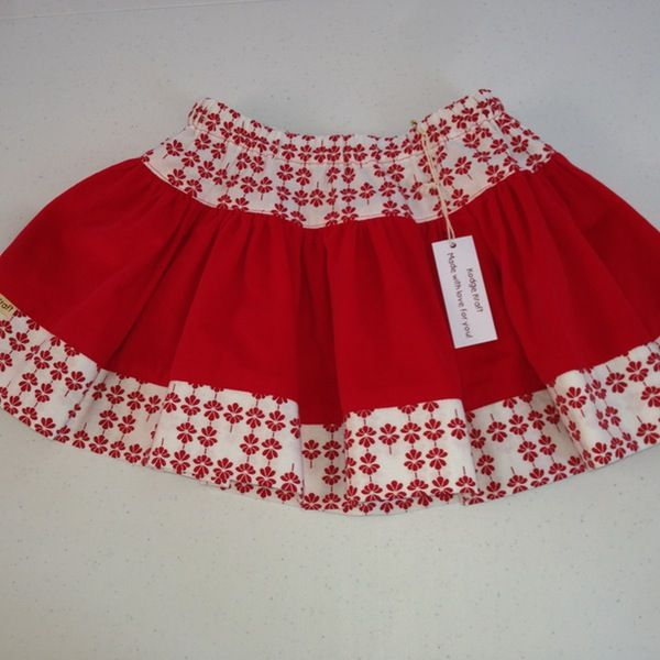 Image of Red twirly skirt