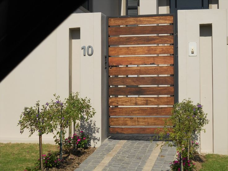 horizontal planks?  Wooden Pedestrian Gates