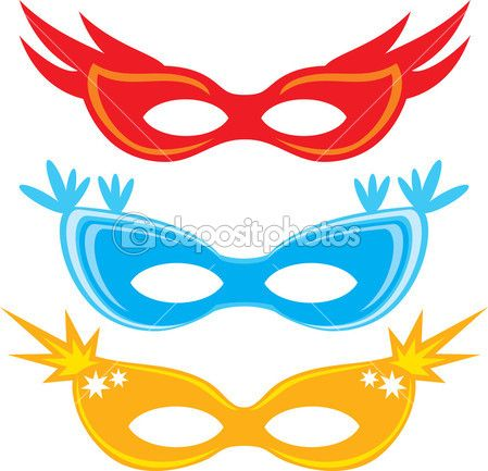 Vector carnival masks (masks for masquerade)