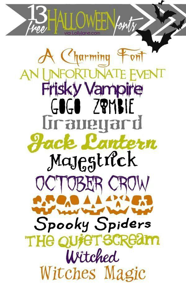 Funtastic Halloween Fonts via Lolly Jane
