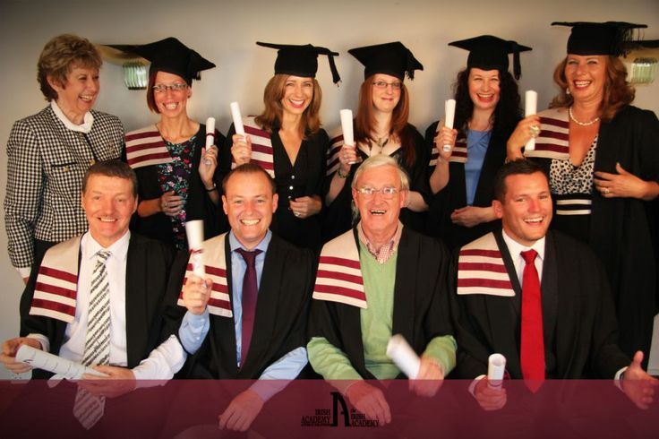 Graduates with the Director of the Irish Academy of Public Relations Ellen Gunning having a laugh!