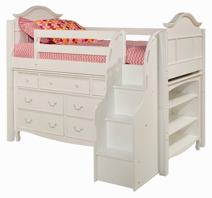 I would love to save some very valuable real estate combining book case, dresser and bed in one!