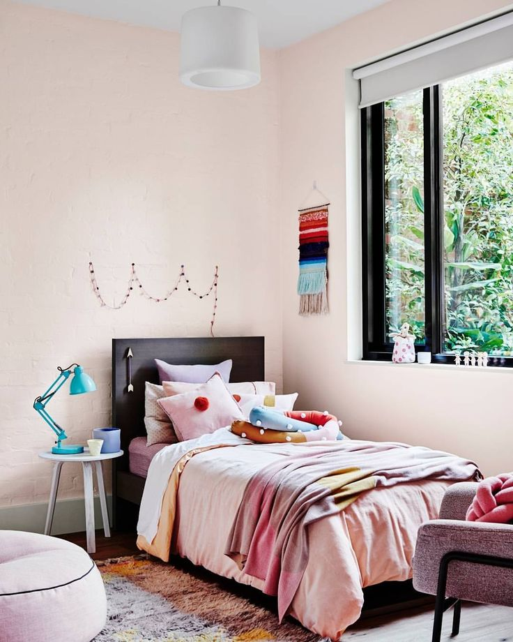 """Dulux Australia on Instagram: """"An important tip from Dulux Creative Consultant Bree Leech is to consider the rest of the home when choosing colour for the kid's room. Make sure the colour you select isn't too jarring compared to the rest of your home, this helps the spaces feel more connected. Styled by @breeleech 