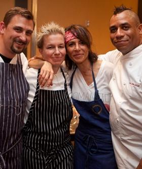 Chef Chris Cosentino, Chef Elizabeth Falkner, Chef Dominique Crenn, and Chef Russell Jackson. San Francisco.