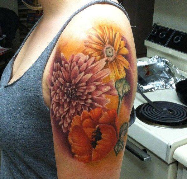 40 Beautiful Chrysanthemum Tattoo Ideas | Showcase of Art