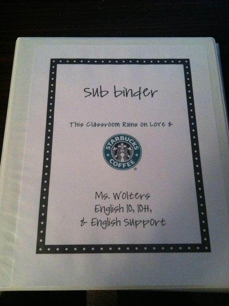 Great middle/high school Sub Binder: Tales Of Teaching In Heels