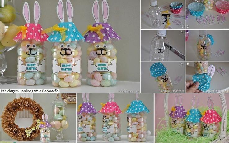 Recuerdo de Pascua, reutilizando las botellas plasticas | Holidays ...