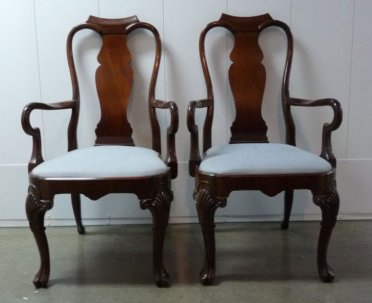 Queen anne hickory chair co fill the house pinterest for Dining room chairs queen anne
