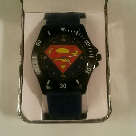 MENS🎄🎄CYBER MONDAY! 🎄SUPERMAN WATCH NEW!!!🎄🎄 💙Brand new Superman watch.💙  It comes in the original Superman case. 💙It retails for $35.00.💙 Comes from a smoke-free and pet-free home.💙  Please feel free to make an offer!💙 Accessories Watches