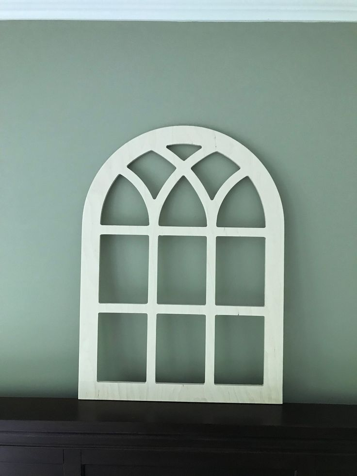 Arched Farmhouse Frame Faux Window Frame Arched Stained