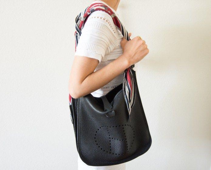 2af9d1ab3 H scarf used as an Evelyne strap | Wish list | Hermes evelyn bag, Hermes  handbags, Hermes purse