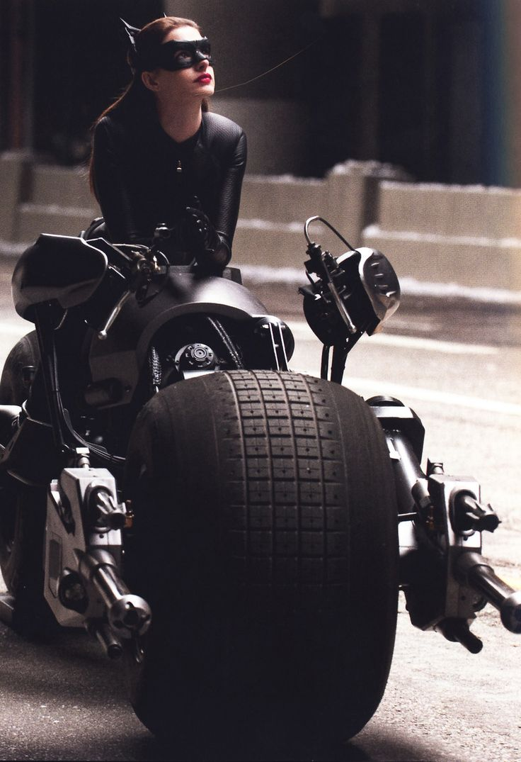 Only Catwoman is allowed by Batman to ride the Batpod - The Dark Knight Rises (2012)