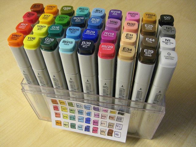 Copics are my favorite...but so expensive. If you have the money, they are a great investment and ugh, such a great medium for any artist!