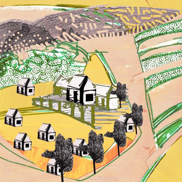 """Collage Landscape #7"" Author: Alina Shagidullina (a creator and owner of HOUZY) @_houzy"
