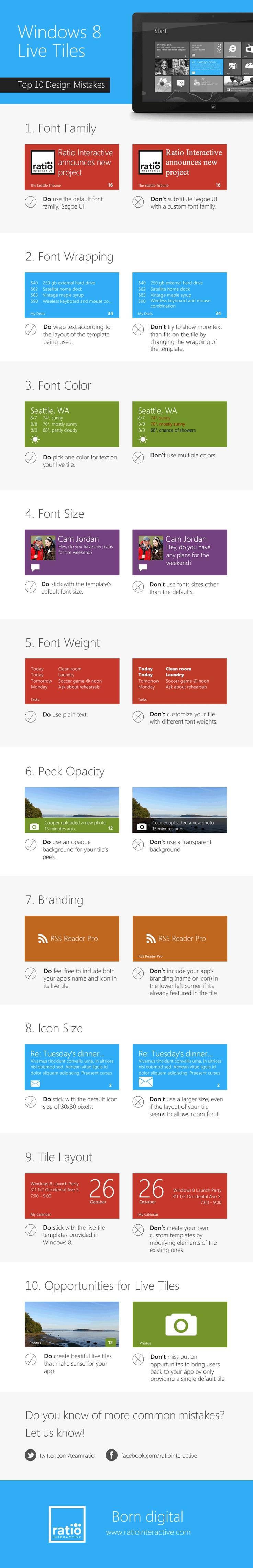Windows 8 Live Tiles: Top 10 Design Mistakes