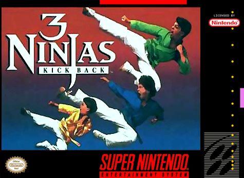 """3 Ninjas Kick Back   Kennst du die US-Komödie Ninja Kids von 1992? Das Spiel, welches ich heute vorstellen möchte, ist ein Retro-Beat 'em Up-Spiel, dass auf dem Film basiert. Das alte SNES-Spiel findest du unter dem Titel """"3 Ninjas Klick Back"""" und wurde von Malibu Interactive kreiert. Die Protagonisten Zu Beginn des Spiels kannst du zwischen den 3 Ninjakids Rocky, Colt oder Tum-Tum wählen.   #3NinjasKickBack #Beat'emup"""