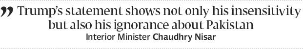 Idle boast: Interior minister rebukes Trump over Dr Afridi release vow - The Express Tribune