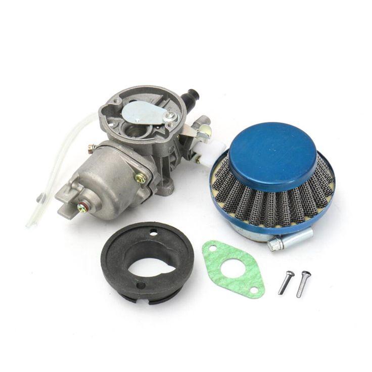 Carburetor Air Filter Assembly Blue For 43cc 47cc 49cc Mini Moto ATV Dirt for Pocket Bike Metal and Plastic