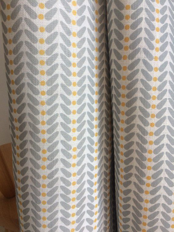 Curtains Made To Measure Yellow Grey Curtains Linen Etsy Yellow And Grey Curtains Grey Curtains Curtains