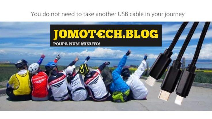 Mini cabo USB 3 em 1! Acabem com a coleção de cabos com este mini cabo 3 em 1! https://jomotech.blog/mini-cabo-usb/ #jomotech #jomotechblog #cabo #usb #lightning #microusb #usbc #charge #charger #cable #iphone #ipad #tablet #android #smartphone #practical #short #bundle #pack #car #home #powerbank #utilities #cheap #usefull #gadget #hands #collection #device #multi