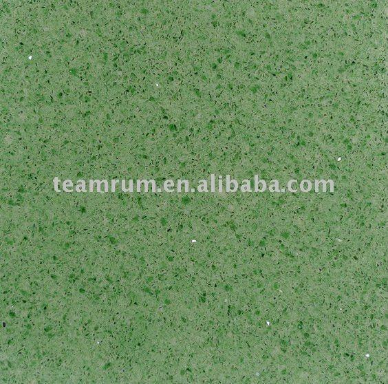 Shell Polishing Green Quartz CountertopsGreen Quartz Countertops