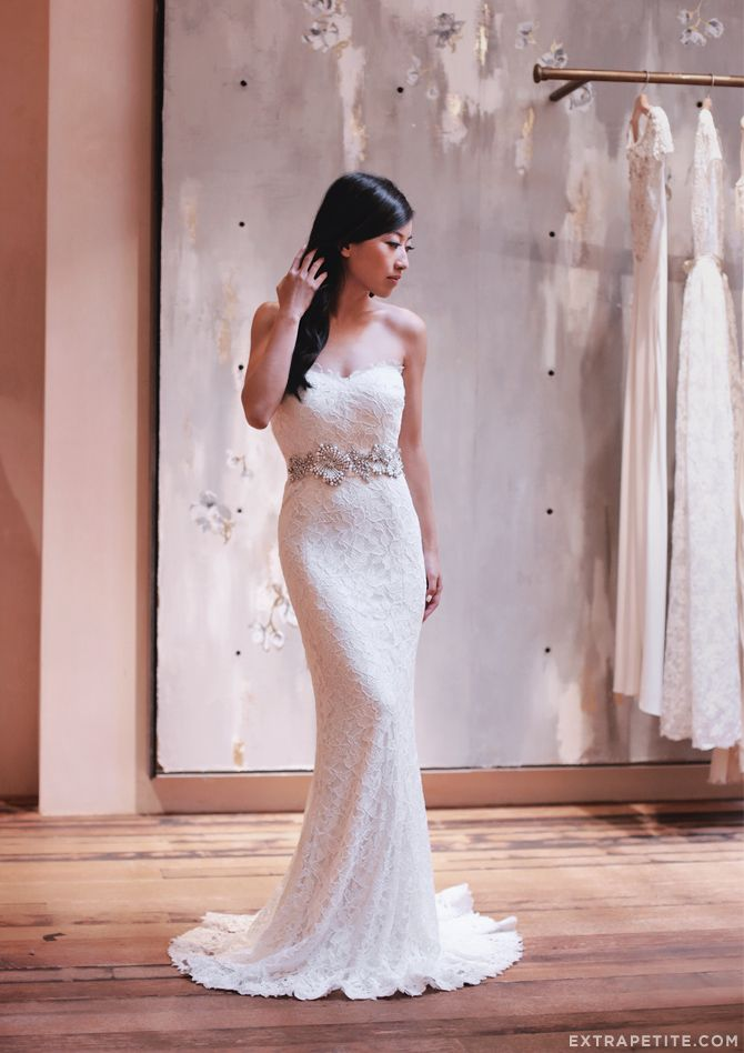 Blogger extra petite in our bhldnboston store seraphina for Wedding dress stores boston