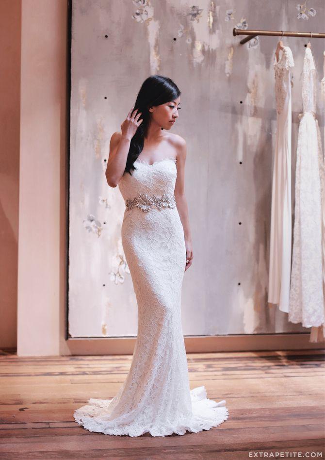blogger extra petite in our #BHLDNboston store | Seraphina Gown by Tadashi Shoji