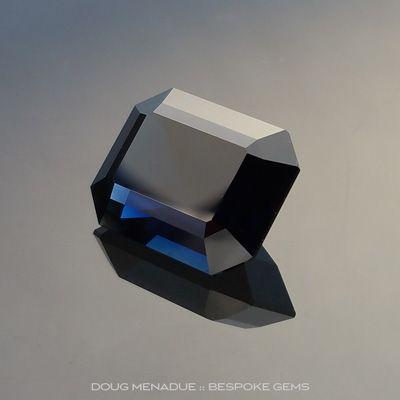 Blue Black Sapphire, Emerald Cut, Rubyvale, Central Queensland, Australia, 7.05 Carats, 12.1X9.4X6.4mm, #102991, A magnificent natural black sapphire from the Australian sapphire gemfields. Doug Menadue :: Bespoke Gems