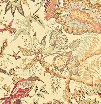 обои с цветами и птицами