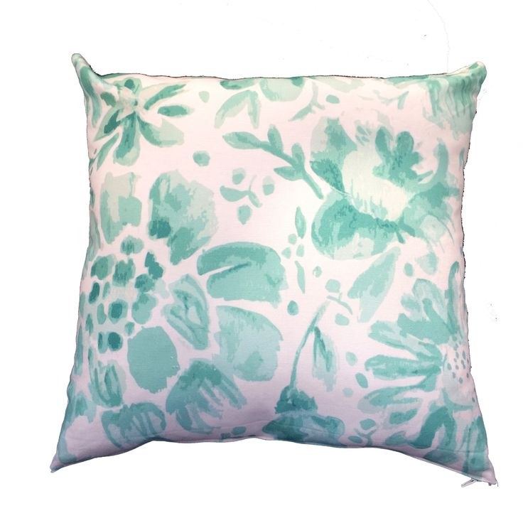 Mint julep pillow cover/ decor / southern style /watercolor fabric