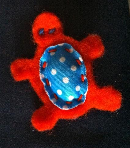 Tartaruga arancio a pallini