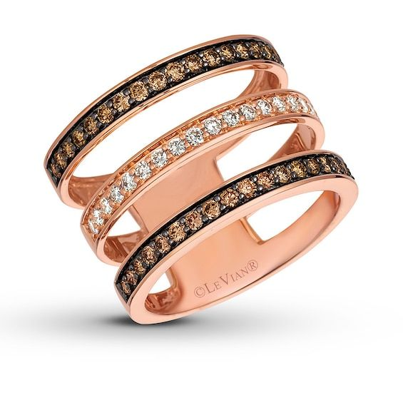 Le Vian Diamond Necklace 1-7/8 ct tw 14K Strawberry Gold