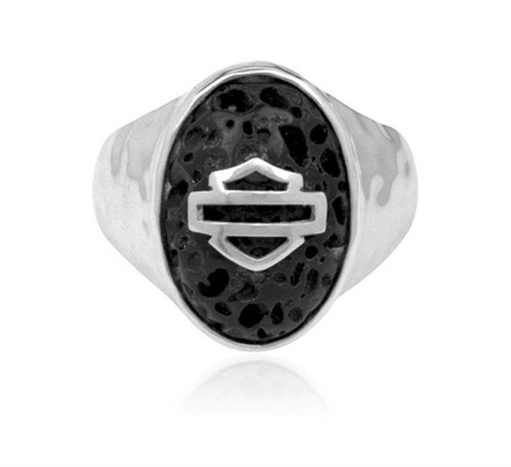 harley davidson 174 s 925 silver lava ring by mod
